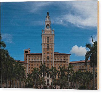 Biltmore Hotel Coral Gables Wood Print by Ed Gleichman