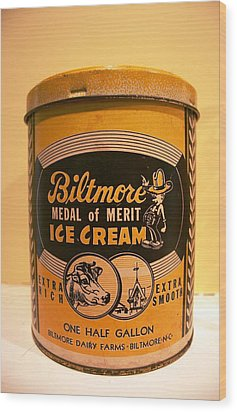 Biltmore Ice Cream Wood Print