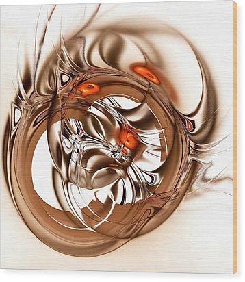 Binding Wood Print by Anastasiya Malakhova