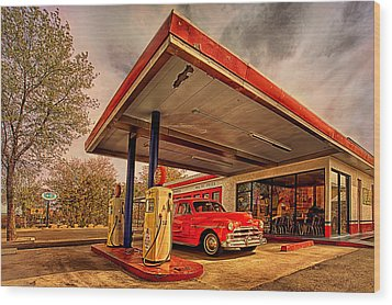 Bings Burger Station In Historic Old Town Cottonwood Arizona Wood Print by Priscilla Burgers