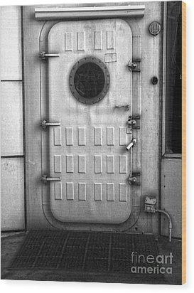 Biosphere2 - Door Wood Print by Gregory Dyer