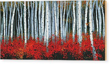 Birch 24 X 48  Wood Print