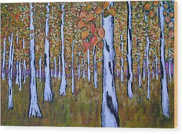 Birch Autumn Wood Print