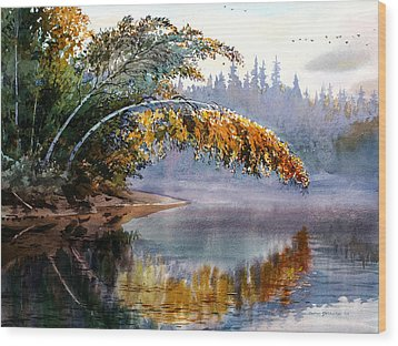 Birch Creek Beauty Wood Print by Vladimir Zhikhartsev