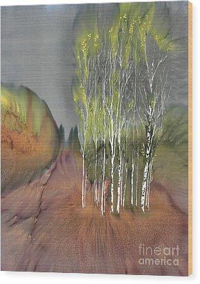 Birch Grove 1 Wood Print by Carolyn Doe