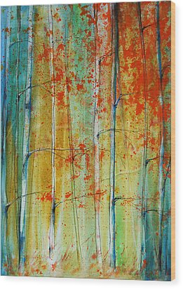 Birch Tree Forest Wood Print