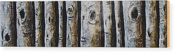 Birches Standing Before You Wood Print by Lori McPhee