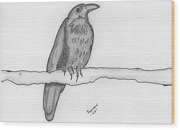 Bird 2 Wood Print
