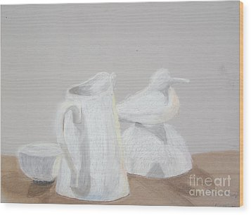 Bird And Pitcher Wood Print by Christopher Murphy