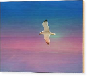 Wood Print featuring the photograph Bird At Sunset by Athala Carole Bruckner