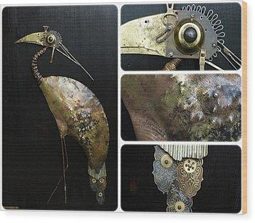 Bird Cx Wood Print by Vladimiras Nikonovas