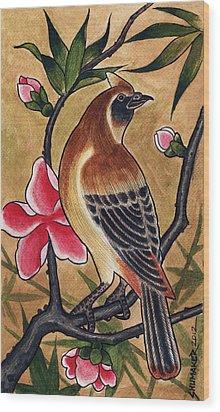 Bird Wood Print by David Shumate