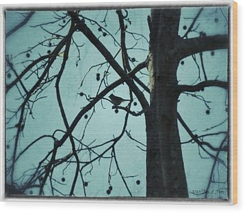 Wood Print featuring the photograph Bird In Tree by Tara Potts