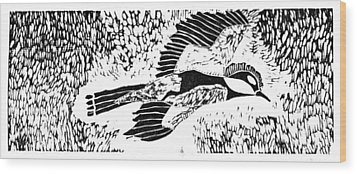 Bird Wood Print by Keiskamma art project
