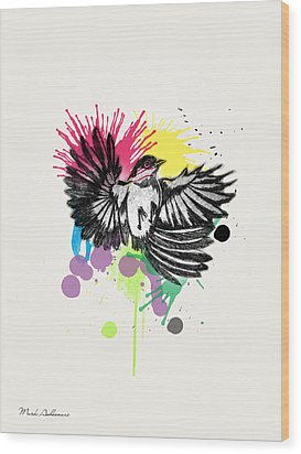 Bird Wood Print by Mark Ashkenazi