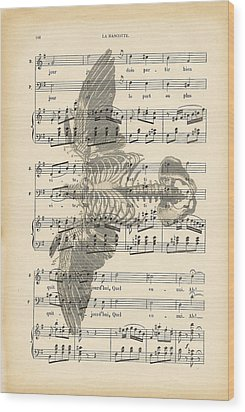 Bird Music Wood Print by Georgia Fowler