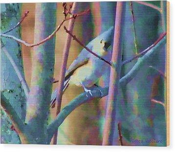Bird Of Another Color Wood Print by Debra     Vatalaro