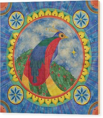 Bird Of Paradise Mandala Wood Print by Vlatka Kelc