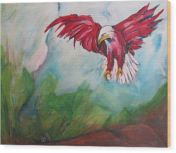 Bird Of Prey Wood Print by Paul Kilyanek
