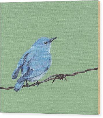 Bird On A Wire Wood Print by Natasha Denger