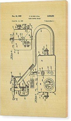 Bird Respirator Patent Art 1962 Wood Print by Ian Monk