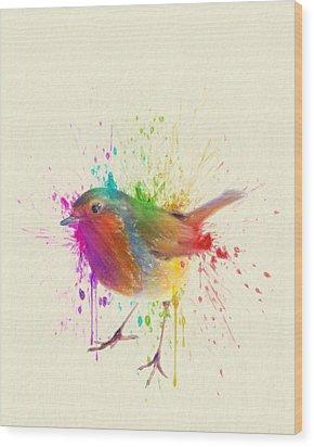 Bird Study Wood Print by Taylan Apukovska