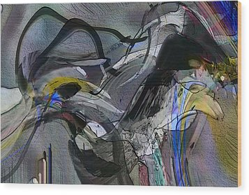 Wood Print featuring the digital art Bird That Wept With Me by Richard Thomas