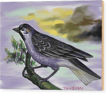 Bird Wood Print by Twinfinger