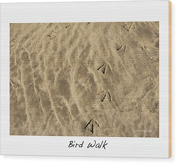 Bird Walk Wood Print by Artist and Photographer Laura Wrede