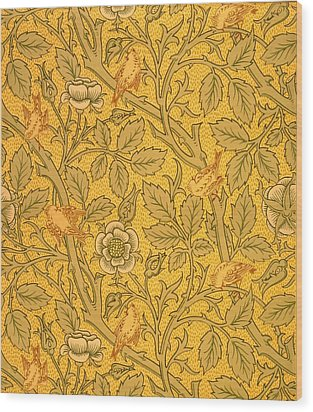 Bird Wallpaper Design Wood Print by William Morris