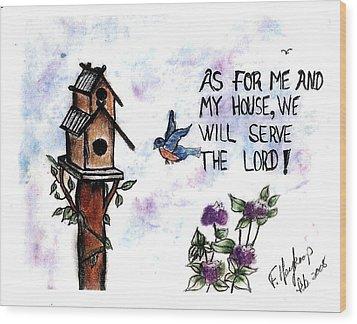 Bird's Home Wood Print by Francine Heykoop