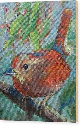 Bird's Morning Song Wood Print