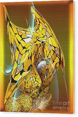 Birds Of A Feather Wood Print by Eleni Mac Synodinos