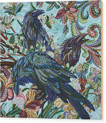 Birds Of A Feather Wood Print