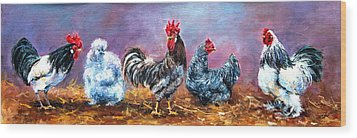 Birds Of A Feather Wood Print by Jacinta Crowley-Long
