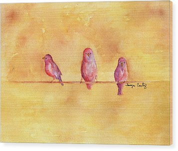 Wood Print featuring the painting Birds Of A Feather - The Help by Tamyra Crossley