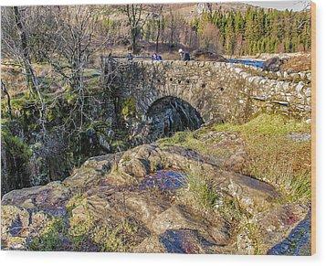 Birks Bridge Lake District Wood Print by Trevor Kersley