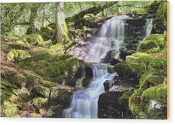 Birks Of Aberfeldy Cascading Waterfall - Scotland Wood Print