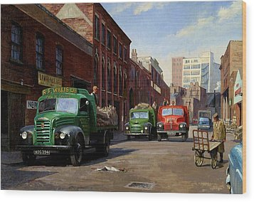 Birmingham Fruit And Veg Market. Wood Print by Mike  Jeffries