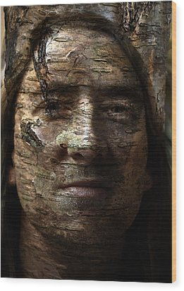 Birtch Green Man Wood Print by Christopher Gaston