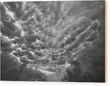 Birth Of A Mammatus Wood Print by Robert FERD Frank