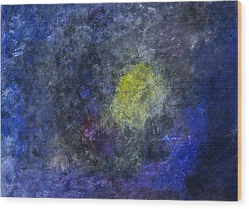 Wood Print featuring the painting Birth Of A Star by Tracey Myers