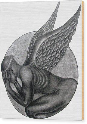 Birth Of An Angel Wood Print by Patrick Carrington