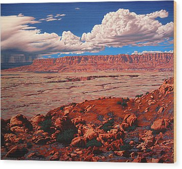 Birth Of The Canyon Wood Print by Cheryl Fecht
