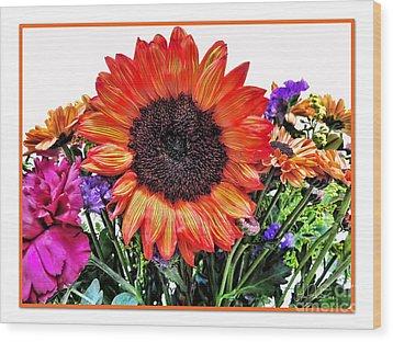 Birthday Bouquet Wood Print by Joan  Minchak