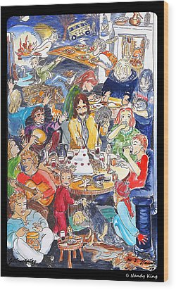 Birthday Wood Print by Nandy King