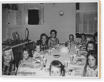 Birthday Party Table Grove Illinois 1957 Wood Print