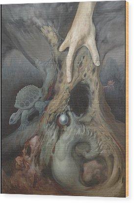 Birthing Tree. Wood Print by Wayne Evans