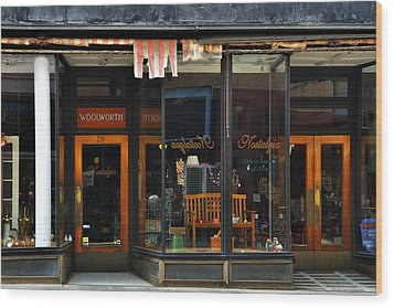 Bisbee Arizona Store Front Wood Print by Dave Dilli