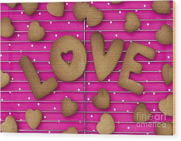 Biscuit Love Wood Print by Tim Gainey